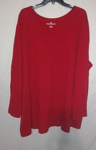 Woman Within Red Long Sleeved T-shirt 3X Plus